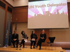 Youth Delegates during the Side Event on Youth Participation